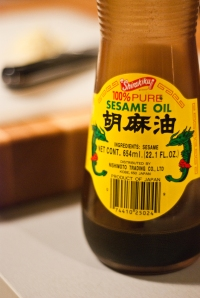 sesame oil with dragons