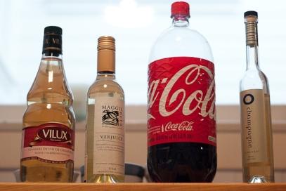 coke bottle with champagne vinegars