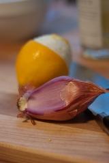 meyer lemon and shallot