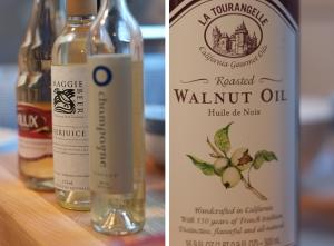 champagne vinegar and walnut oil